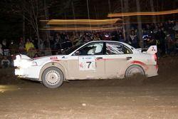 #7 2001 Mitsubishi Evo VI: Jean-Paul Pérusse, Martin Headland
