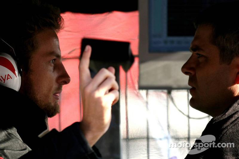 Jenson Button and Gil de Ferran