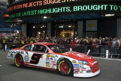 Kasey Kahne in the streets of New York for the Victory Lap