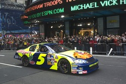 Kyle Busch in the streets of New York for the Victory Lap