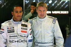 Mika Häkkinen und Lewis Hamilton