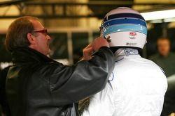 Mika Häkkinen mit Manager Didier Coton
