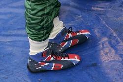 Racing shoe of Matthew Wilson