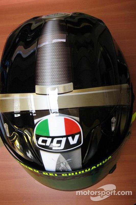 El casco de Valentino Rossi