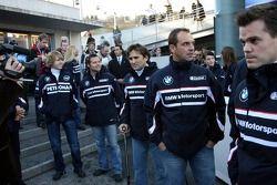 Sebastian Vettel, Andy Priaulx, Alex Zanardi, Jorg Muller y Dirk Muller