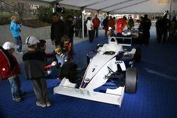 Formula BMW car on display