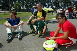 Luciano Burti with Tony Kanaan and Felipe Massa