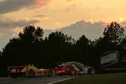 #22 Team PTG BMW E46 M3: Justin Marks, Bryan Sellers, Ian James, #6 Penske Motorsports Porsche RS Spyder: Sascha Maassen, Timo Bernhard, Emmanuel Collard