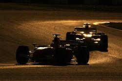 Luca Badoer leads Felipe Massa