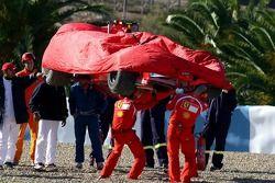 The Ferrari of Luca Badoer is recovered