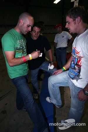 Marino Franchitti, Bryan Sellers and Justin Marks