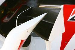 Detail of the Super Aguri F1 interim chassis