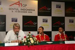 Press conference: David Claire, Ananda Mikola and Moreno Soeprapto