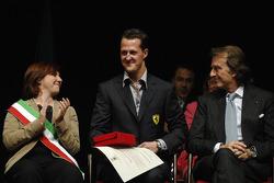 Lucia Bursi, Michael Schumacher e Luca di Montezemolo