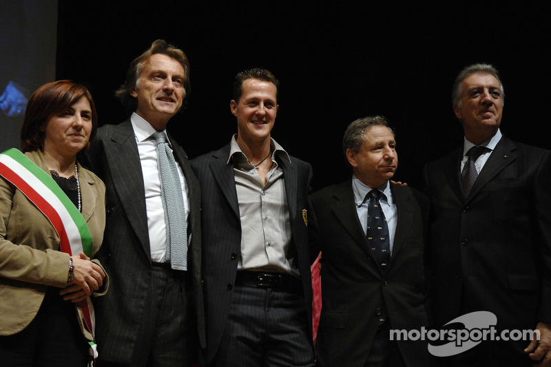 Lucia Bursi, Luca di Montezemolo, Jean Todt ve Piero Ferrari