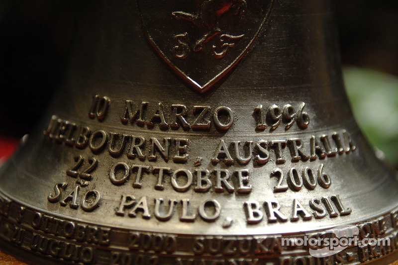 bell given to Michael Schumacher