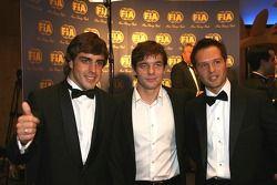 Fernando Alonso, Sébastien Loeb y Andy Priaulx