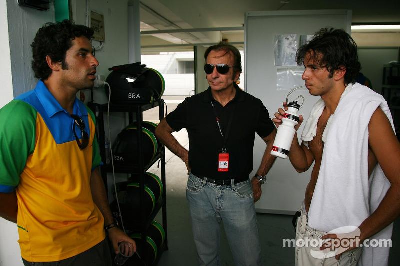 Raphael Matos com Emerson Fittipaldi e Tuka Rocha