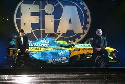 FIA Formula One World Championship: Fernando Alonso y Flavio Briatore, Renault F1