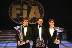 Fernando Alonso, Andy Priaulx and Sébastien Loeb