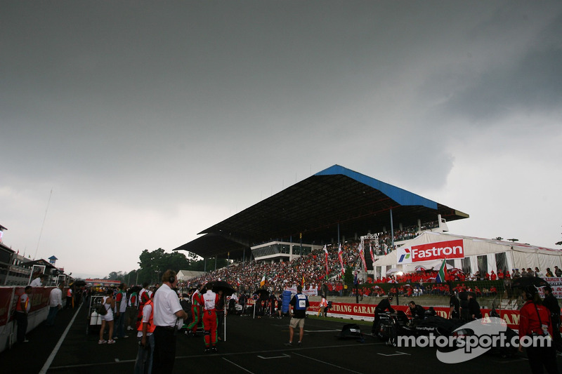 The rain clouds over the grid