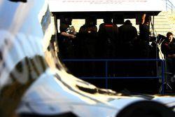 Honda Racing F1 Team on the pitwall