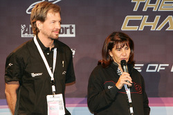 Organizadores de la Carrera de Campeones Fredrik Johnsson y Michèle Mouton