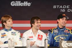 Marcus Gronholm, Sébastien Loeb and Travis Pastrana