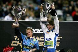 Les vainqueurs de la Nations Cup 2006 : Heikki Kovalainen et Marcus Gronholm
