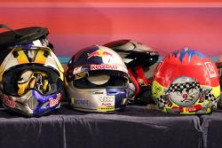 Cascos de los pilotos de la Carrera de Campeones 2006