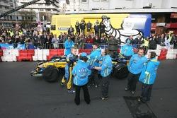 Heikki Kovalainen gets ready for his demo run