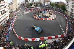 Heikki Kovalainen does a demo run in a Renault F1