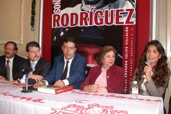 Carlos Jalife presents his book 'The Rodríguez Biography': Tolama, M.Á. Quintana, Carlos Jalife, C