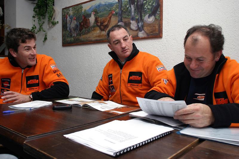 Team Rally Repsol KTM: Marc Coma, Giovanni Sala and Jordi Arcarons