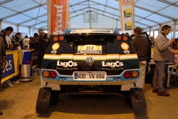 The Team Lagos The Volkswagen Race Touareg of Carlos Sousa and Andreas Schulz at scrutineering
