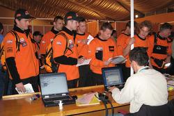 Team Repsol KTM at scrutineering
