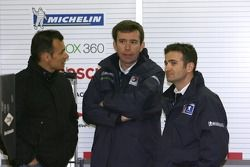 Nicolas Minassian, technical director Bruno Famin and Stéphane Sarrazin