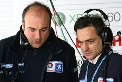 Aerodynamics manager Guillaume Cattelani and team manager Serge Saulnier