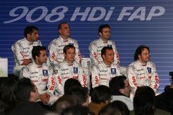 Pressekonferenz: Jacques Villeneuve, Marc Gene, Pedro Lamy, Eric Hélary, Stéphane Sarrazin, Nicolas