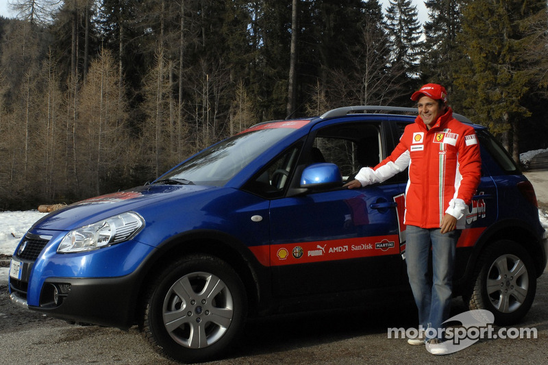 Felipe Massa arrives in Madonna di Campiglio
