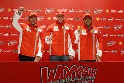 basın toplantısı: Luca Badoer, Kimi Raikkonen ve Felipe Massa