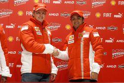 basın toplantısı: Kimi Raikkonen ve Felipe Massa