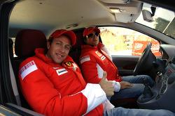 Luca Badoer and Felipe Massa