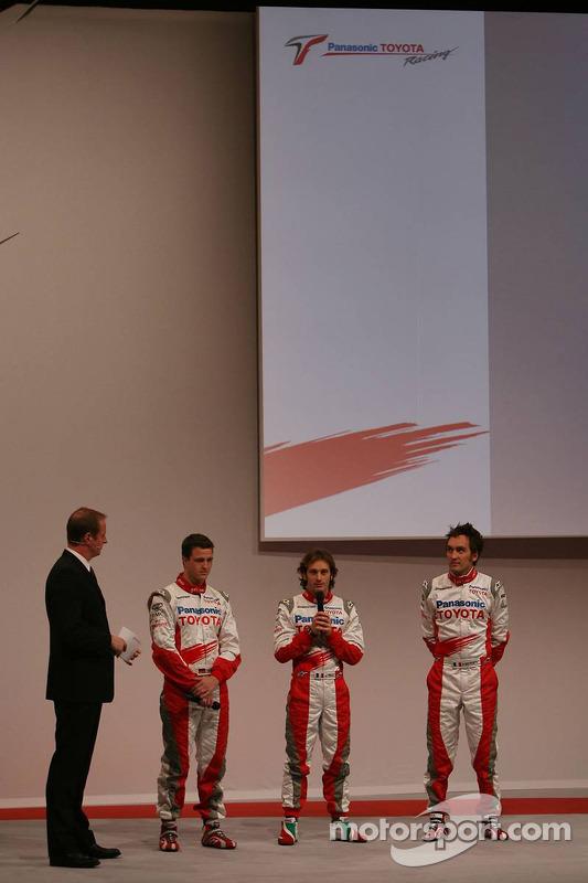 Ralf Schumacher; Jarno Trulli; und Franck Montagny, Toyota