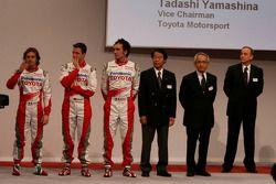 Ralf Schumacher, Jarno Trulli, Franck Montagny, Kazou Okamoto, Toyota Motor Corporation Başkan yardı