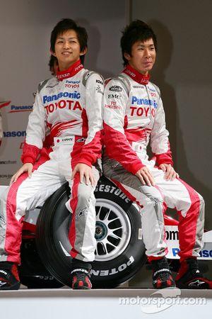 Kohei Hirate und Kamui Kobayashi, Toyota