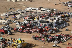 Aerial view of the bivouac at Atar