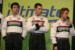 BRDC McLaren Autosport Young Driver Award finalists: Jeremy Metcalfe, Jon Barnes, Sam Bird