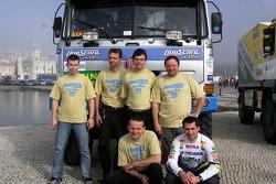 Tomas Tomecek Letka Racing Team: Tomas Tomecek and Jaromir Martinec with Livescore team members