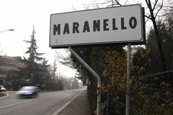 Straßenschild in Maranello